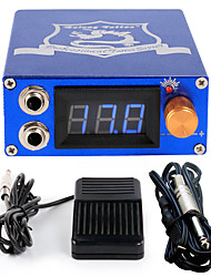 Solong tattoo Aluminum Digital LCD Display Black Color P106-3Tattoo Power SupplyFoot PedalClip Cord
