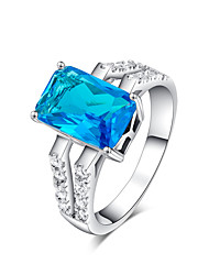 cheap -Women's Ring - Zircon, Cubic Zirconia Fashion 6 / 7 / 8 Green / Blue For Daily / Casual