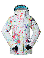 cheap -Women's Ski Jacket Waterproof Thermal / Warm Quick Dry Windproof Fleece Lining Ultraviolet Resistant Front Zipper Anti-Eradiation Ski /