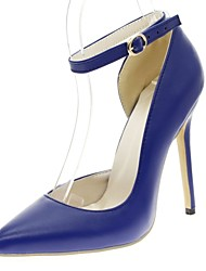 cheap -Women's Shoes Synthetic Leatherette PU Spring Summer Comfort Novelty Slingback Heels Stiletto Heel Pointed Toe Lace-up Hollow-out for