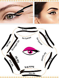 cheap -1 Pcs Pop Look Line Card 6 In 1 Draw The Cat'S Eye Beauty Makeup Six Shapes