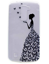 cheap -For LG K10 K7 NEXUS 5X X Power Butterfly Girl Painting TPU Phone Case