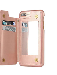Per iPhone 8 iPhone 8 Plus iPhone 7 iPhone 7 Plus iPhone 6 Custodie cover Porta-carte di credito A prova di sporco A specchio Custodia