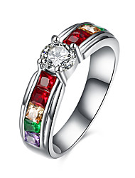 Ring Kubikzirkonia Edelstahl Zirkon Titanstahl Imitation Diamant Modisch Silber Schmuck Alltag Normal 1 Stück