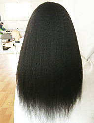 cheap -Brazilian Lace Front Wigs 7A Human Hair Wigs Coarse Yaki Lace Front Human Hair Wigs Kinky Straight