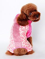Chien Costume Vêtements pour Chien Mignon Cosplay Animal Marron Rose