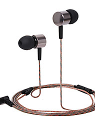 cheap -HUAST HST-47 Stereo HeadPhone In Ear Earphone Metal Handsfree Headset with Mic 3.5mm Earbuds For All Phone MP3 Player