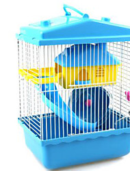 cheap -Rodents Hamster Plastic Cages Coffee Blue Pink