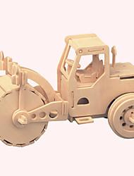 Quebra-Cabeças de Madeira Carros de brinquedo Brinquedos Construções Famosas Arquitetura Chinesa Casa Maquina de Escavar Nível