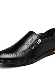 cheap -Men's Shoes Leatherette Spring Fall Comfort Loafers & Slip-Ons Walking Shoes Lace-up for Wedding Casual Party & Evening Black Blue Dark