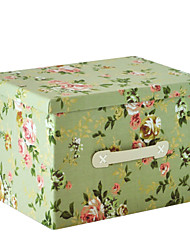 RayLineDo® 26L Foldable Storage Box Clothes Blanket Closet Sweater Organizer Canvas With Delight Flower Patterns
