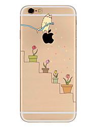 Per Ultra sottile Fantasia/disegno Custodia Custodia posteriore Custodia Con logo Apple Morbido TPU per AppleiPhone 7 Plus iPhone 7