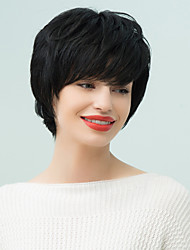 Prevalence  Spirit  Fluffy Short  Natural  Wavy Human Hair Wig