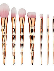 cheap -YZIMENG® 7pcs Pink Unicorn Makeup Brushes Set Blush/Eyeshadow/Lip/Eyebrow/Concealer/Powder Travel Portable Synthetic Hair Make Up for Face