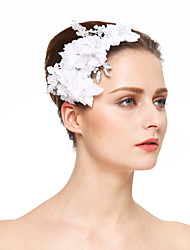 Chiffon Crystal Imitation Pearl Rhinestone Hair Combs Flowers Headpiece