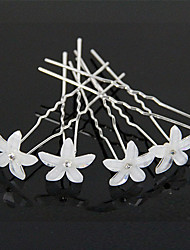 cheap -Hot Hair Resin Flower U More Hair Barrette Fine Beautiful Bride Wedding Tiara  6pcs