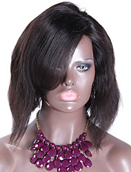 Cheap New Short Bob Natural Wave Indian Human hair Full Lace Natural Color Bob Wig For Black Women