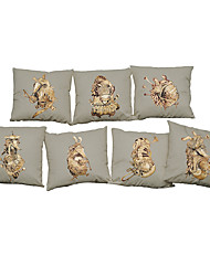 Set of 7 Creative instrument pattern  Linen Pillowcase Sofa Home Decor Cushion Cover