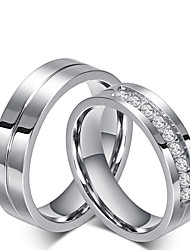 Men's Women's Couple Rings Band Rings Love Classic Cubic Zirconia Titanium Steel Jewelry Jewelry For Party Gift Daily Valentine