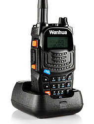 cheap -wanhua UV6S Walkie Talkie Handheld Anolog Power Saving Function Dual Band LCD Display Monitoring >10KM >10KM 128 8 Walkie Talkie Two Way