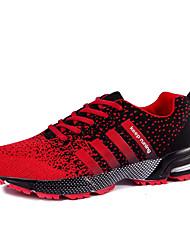 Недорогие -Зеленый Черный Красный Черно-белый-Мужской-Для прогулок Повседневный-Полиуретан-На плоской подошве-Удобная обувь-Спортивная обувь