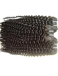 Brasileiro Cabelo Remy Extensão de Cabelo Humano Natural Kinky Curly Mechas de Cabelo Humano Remy