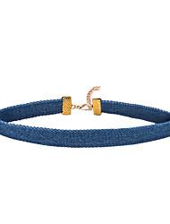 Недорогие -форма Классический Multi-Wear способы Мода обожаемый Ожерелья-бархатки Бижутерия Ткань Ожерелья-бархатки Для вечеринок Особые случаи День