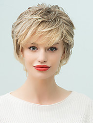 Prevalence Short Natural Wave Human Hair  Ombre   Wig For Women