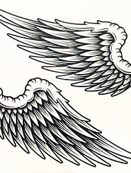 Недорогие -1шт Переброска воды наклейки татуировки большая картина человека обратно татуировки наклейки
