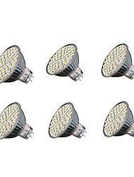 cheap -6pcs 4W 240 lm GU5.3 LED Spotlight MR16 60 leds SMD 3528 Warm White Cold White 3000-3200/6000-6500