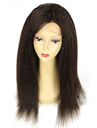 Glueless Silk Top Full Lace Wigs Light Yaki Brazilian Virgin Hair Full Lace Human Hair Wigs Yaki Straight For Black Women