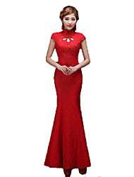 cheap -Classic Lolita Dress Vintage Inspired Elegant Women's Cosplay Red Short Sleeves Long Length