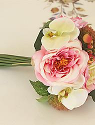 Недорогие -Свадебные цветы Круглый Розы Букеты Свадьба Шёлк