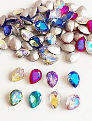 10 Unha Arte Decoração strass pérolas maquiagem Cosméticos Designs para Manicure