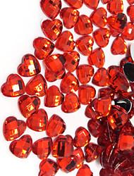 500pcs 144g Red Rhinestone Heart Shape Table Party Scatters Confetti Wedding Cofetti Decor