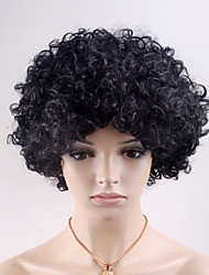 cheap -Synthetic Wig Curly Black Women's Capless Natural Wigs Short Synthetic Hair