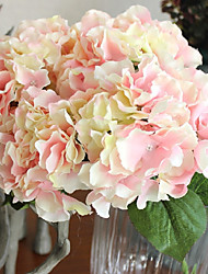 cheap -5 Heads/Bouquet Silk Big Size Hydrangeas Wedding Celebration Artificial Flowers