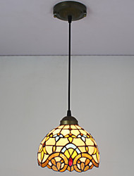 cheap -E27 220V 20CM 10-15㎡Chain Hoist 1 Meter European Pastoral Tiffany Lamp Creative Art Glass Led Small Droplight