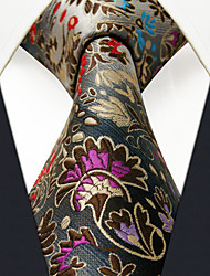 PXL12 Classic Fashion For Men Neckties Unique Extra Long 63 Gray Abstract 100% Silk Business