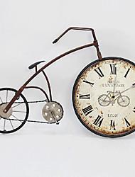 cheap -E-HOME® Nostalgic Brown Bicycle Metal Wall Clock One Pcs