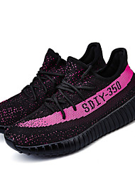 cheap -Big Size Women's Athletic Shoes Comfort Tulle Shoes Casual Running Shoes Flat Heel Lace-up 4 Color EU36-43