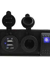 DC 12V / 24v 3.1a USB порт розетки и зарядного устройства с Кулисный перемычек и держатель корпуса