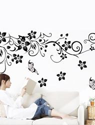 1Pcs   Wall Art Decal Decoration Fashion Romantic Flower Wall Sticker  Home Decor