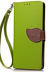 cheap -Case For Huawei Huawei Y600 Card Holder Wallet Full Body Cases Solid Color Hard PU Leather for Huawei Y6 / Honor 4A Huawei Y5C(Honor Bee)