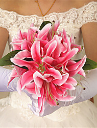 cheap -1Pc European Perfume Lily Bride Holding Flowers Artificial Flowers Wedding Bouquet Bouquet Home Furnishing Living Room Decoration