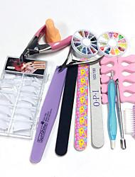 100pcs unhas dicas 14sets quantidade de embalagem unhas kit Nail Art Decoração tipo de estilo DIY nail art