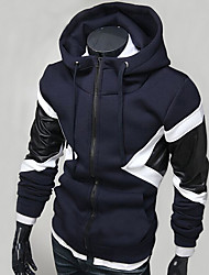Men's Daily Sports Going out Casual Active Street chic Hoodie Color Block Crew Neck Micro-elastic Polyester Long Sleeve Spring Fall