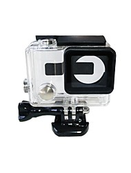 TELESIN Clear View Skeleton Open Side Protective Housing Case with Lens Compatible with Gopro Hero4 Hero3+ Camera