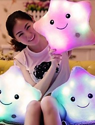 cheap -1Pcs 40Cm*35Cm  Colorful Body Pillow Star Glow Led Luminous Light Pillow Cushion Soft Relax Gift Smile  Body Pillow  Random  Color