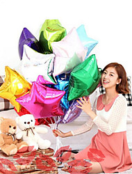cheap -10Pcs Two Kinds Of Shaped 10 Inch Balloon Star Wedding Large Aluminum Foil Balloons Gift Birthday Baloon Party Decoration Ball  Random Color